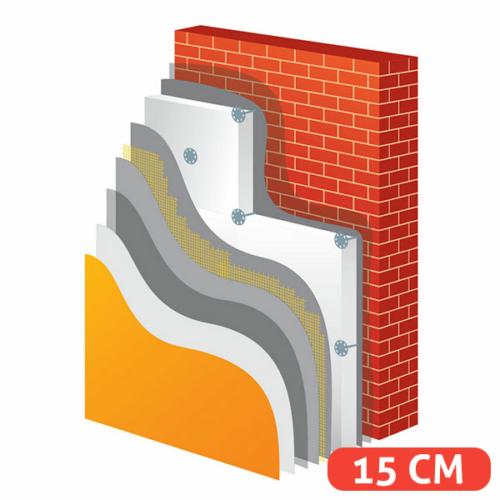 15 cm-es polisztirol hőszigetelő rendszer